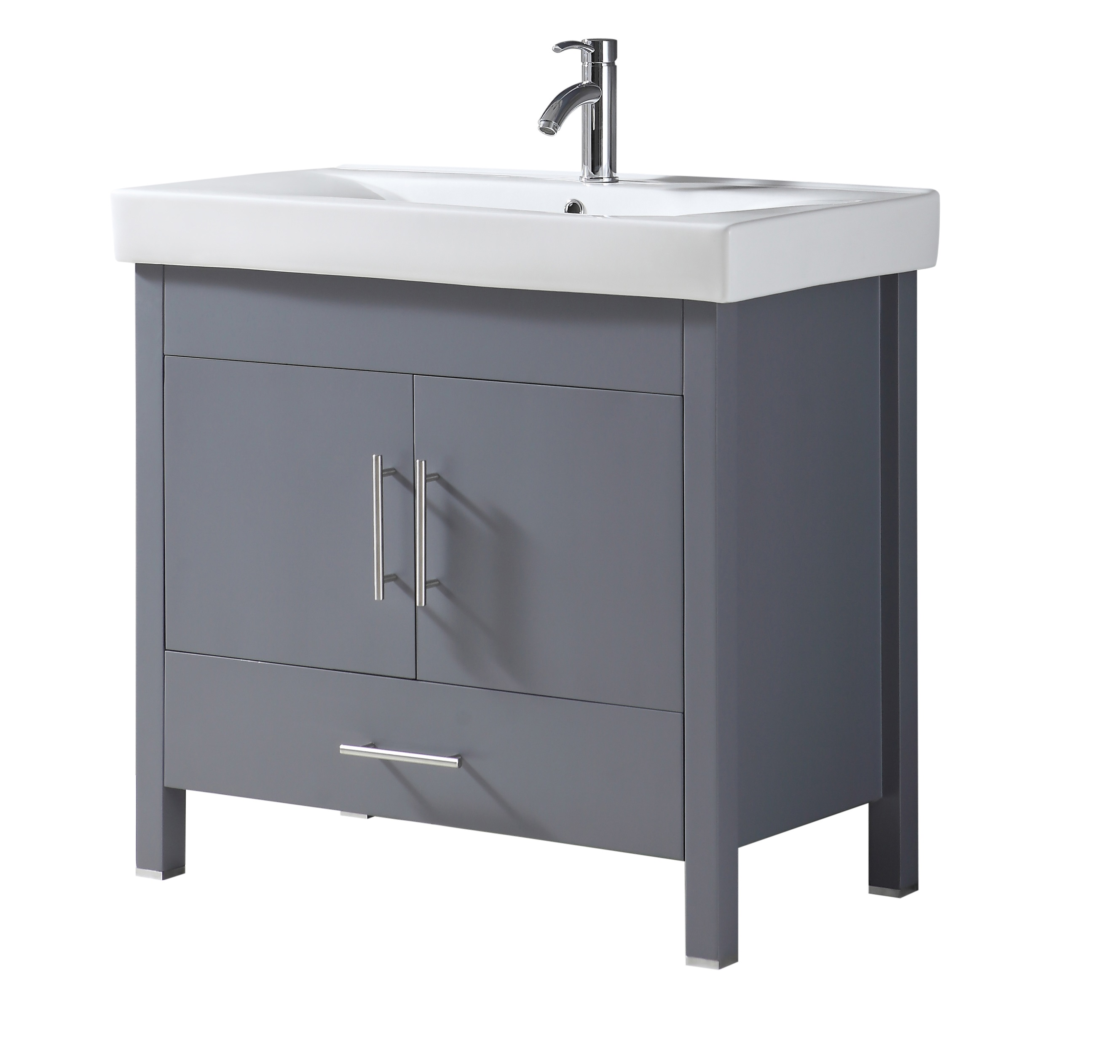 Melange 36 Inch Charcoal Grey Vanity Ak Trading Home Options