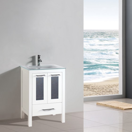 Serpens 24 Inch White Vanity