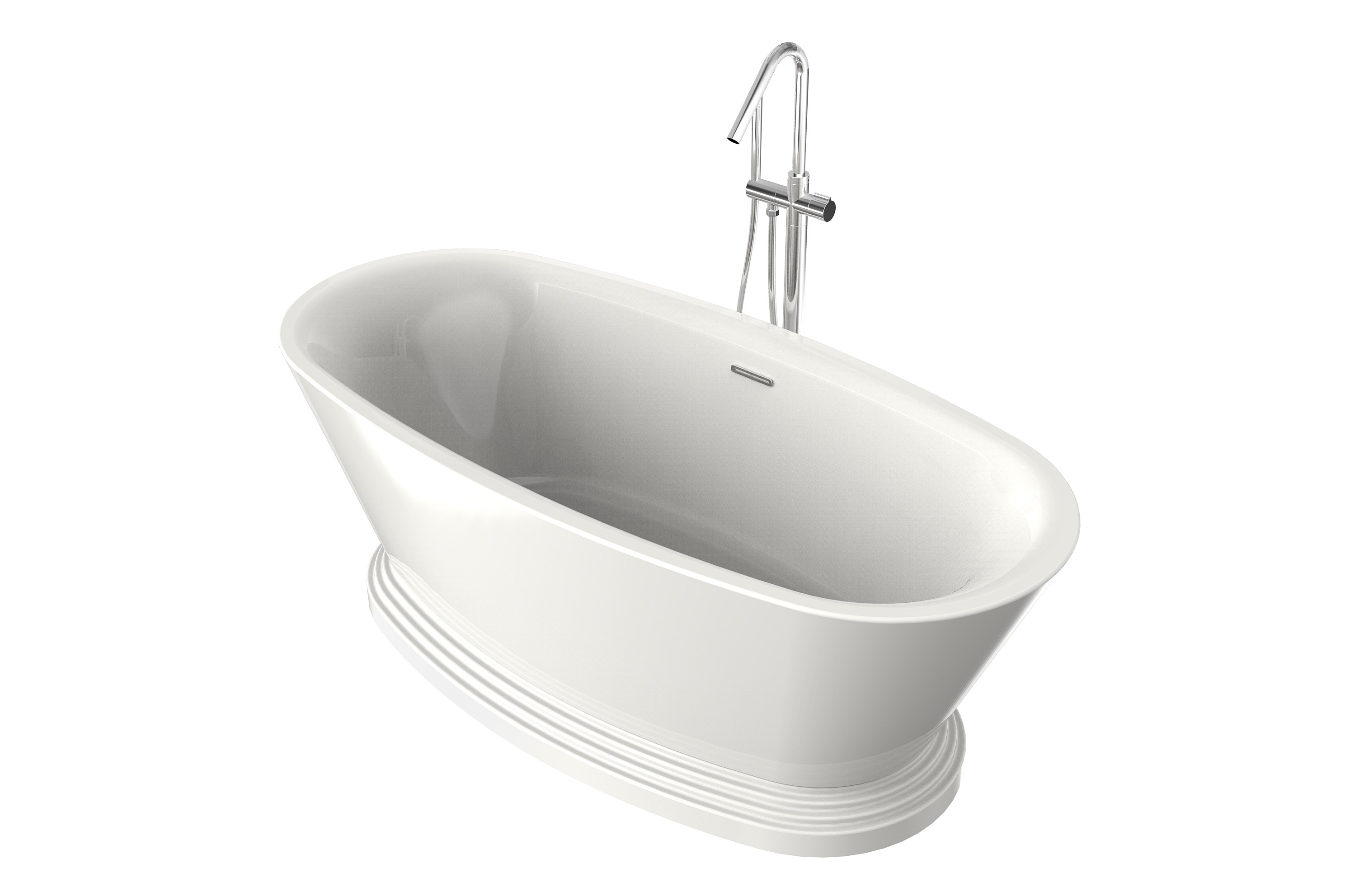 Elsa oval bathtub ak trading home options for Oval tub sizes