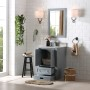 Bilberry 24 Inch Charcoal Grey Vanity 1