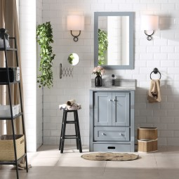 Bilberry 24 Inch Charcoal Grey Vanity 3