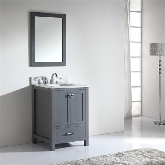 Corvus 24 Inch Charcoal Grey Vanity 1