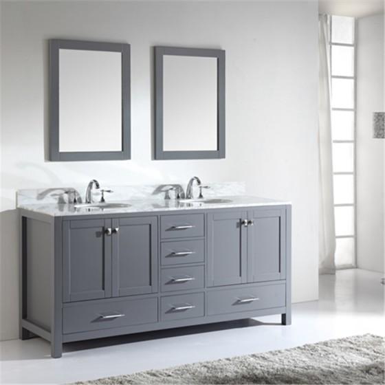 Corvus 72 Inch Charcoal Grey Vanity 1