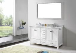 Corvus 72 Inch White Vanity 1