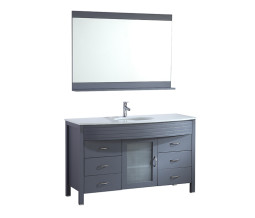 Diamond 55 Inch Charcoal Grey Vanity 1