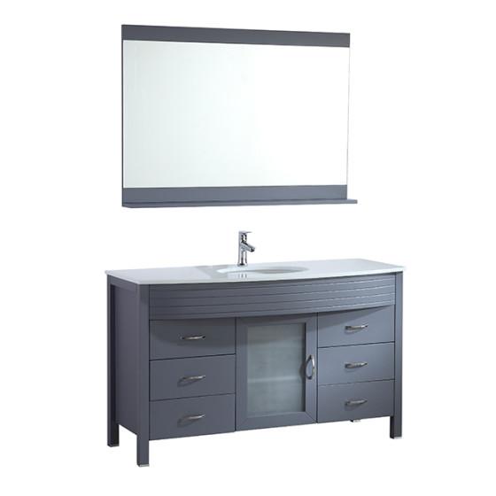 Diamond 55 Inch Charcoal Grey Vanity 1