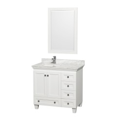 Holly 36 Inch White Vanity 1