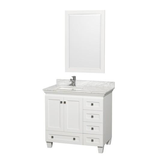Holly 36 Inch White Vanity 1