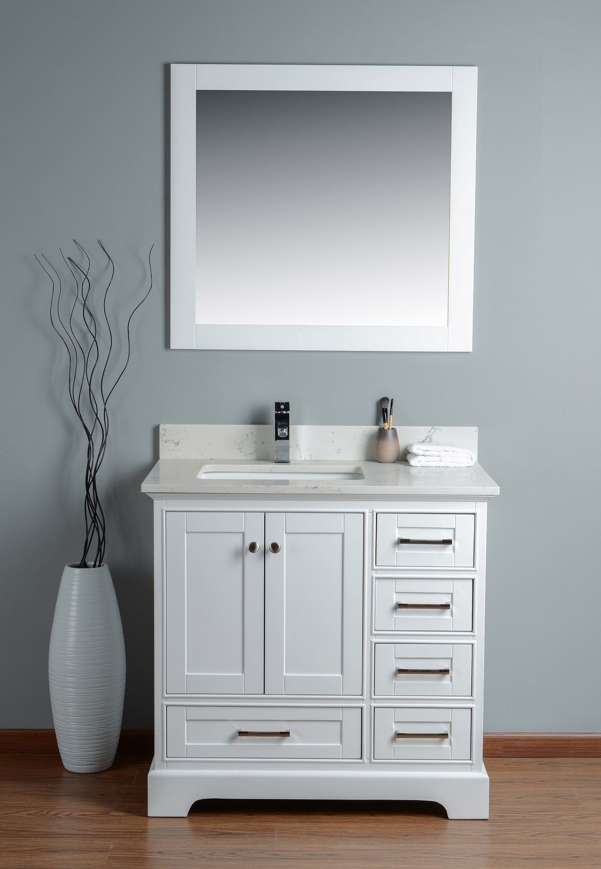 dual sink for modern gray bathroom option of combo narrow the depth vanity inch
