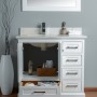 Lir 36 Inch White Cloud Carrera Quartz Vanity 3