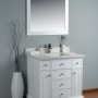 Lyra 36 Inch White Cloud Carrera Quartz Vanity 1