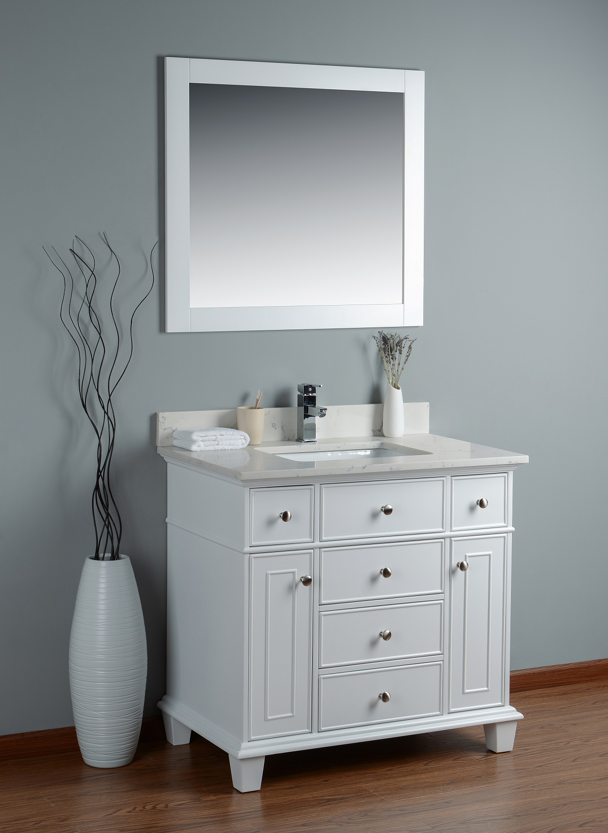 bathroom vanities 36 inch white lyra 36 inch white cloud quartz vanity ak 22453
