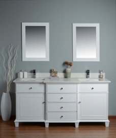 Lyra 72 Inch White Cloud Carrera Quartz Vanity 1