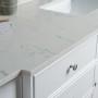 Lyra 72 Inch White Cloud Carrera Quartz Vanity 2
