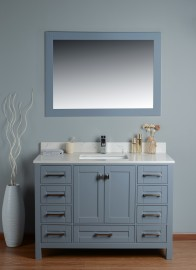 Pavo 48 Inch Grey Cloud Carrera Quartz Vanity 1 (1)