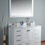 Pavo 48 Inch White Marble Vanity 2