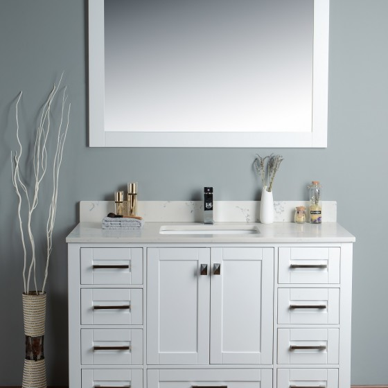 Pavo 48 Inch White Vanity 1