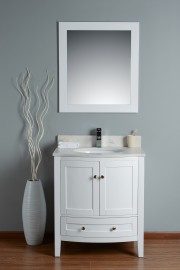 Perseus 30 Inch White Cloud Carrera Quartz Vanity 1