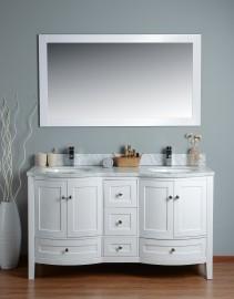 Perseus 60 Inch White Marble Vanity 1