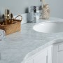 Perseus 60 Inch White Marble Vanity 2