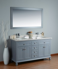 Pictor 60 Inch Charcoal Cloud Carrera Marble Grey 1