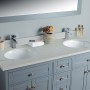 Pictor 60 Inch Charcoal Grey Cloud Carrera Quartz Vanity 3