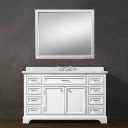 Snowberry 55 Inch White Vanity 1
