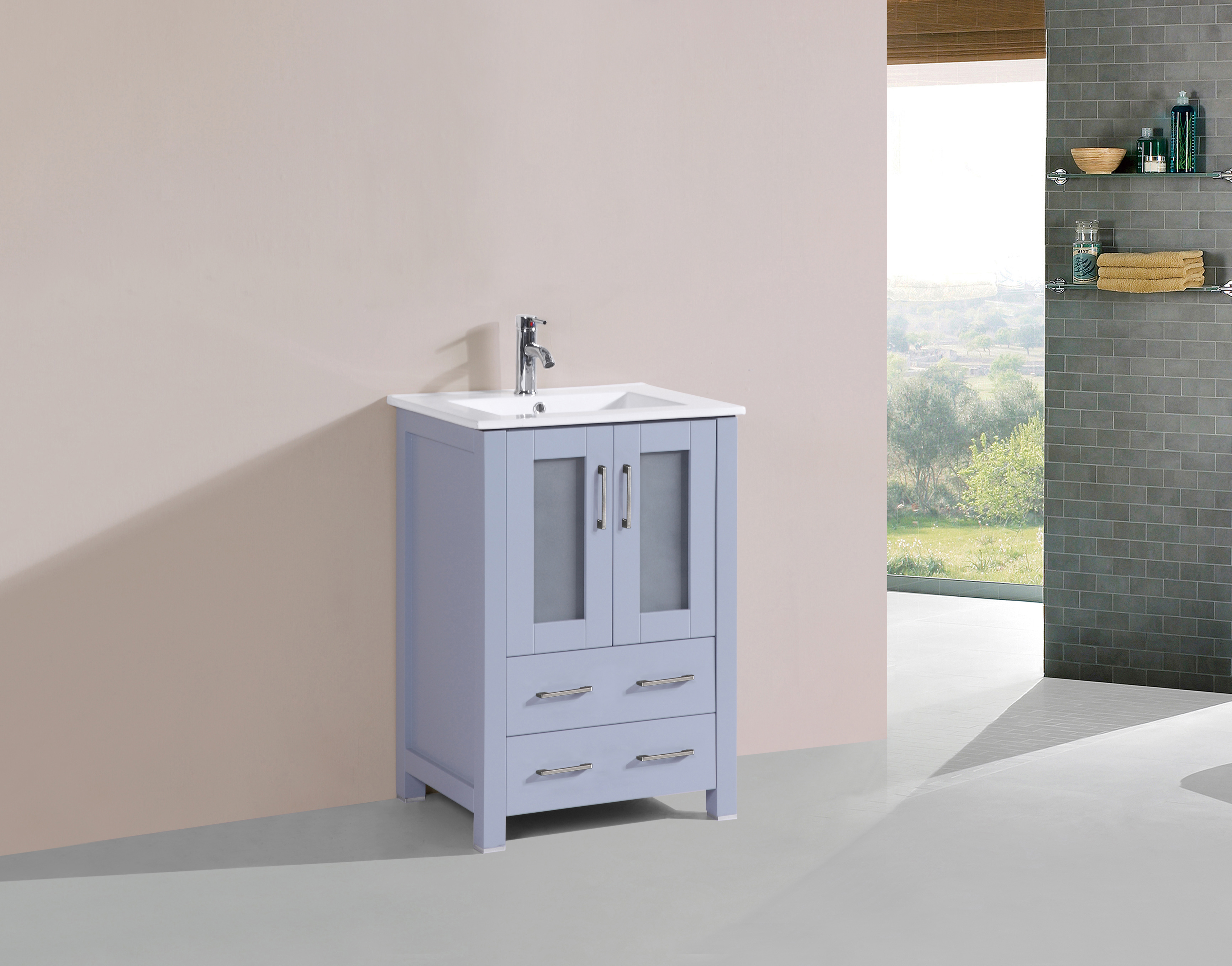 Daisy 24 Inch Grey Vanity Ak Trading Home Options