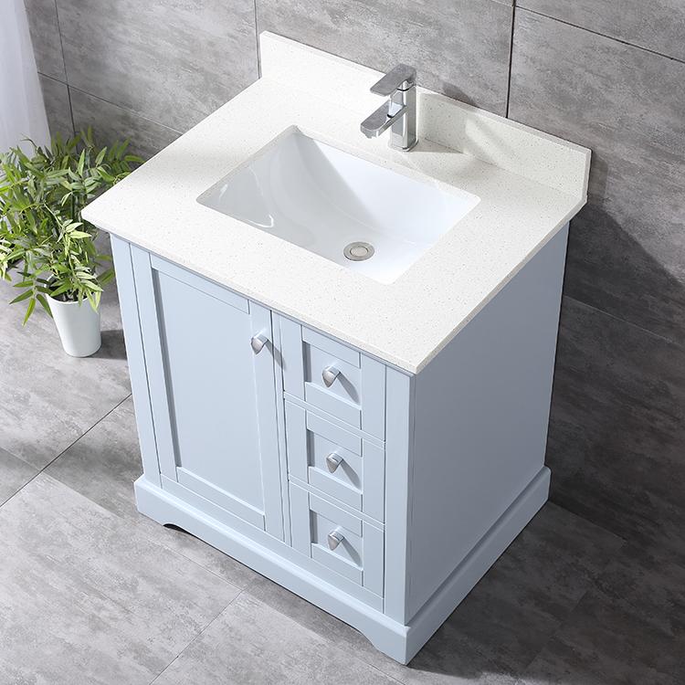 Hazel 30 inch grey vanity ak trading home options for Gray 30 inch bathroom vanity