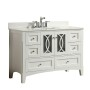 Heather 48 Inch White Vanity 1