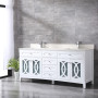 Heather 72 Inch White Vanity 2