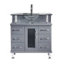 Blue Topaz 32 Inch Charcoal Grey Vanity 2