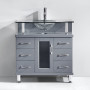 Blue Topaz 32 Inch Charcoal Grey Vanity 3