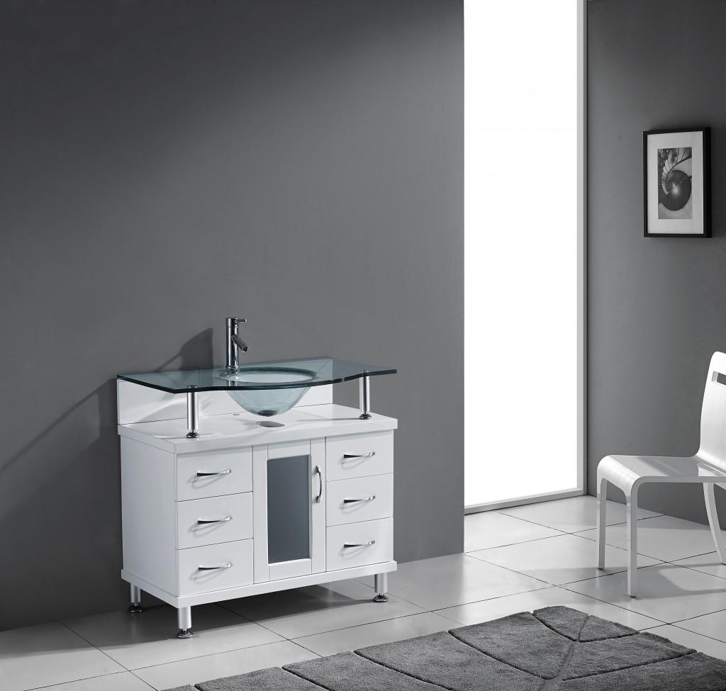 Blue Topaz 36 Inch White Vanity Ak Trading Home Options