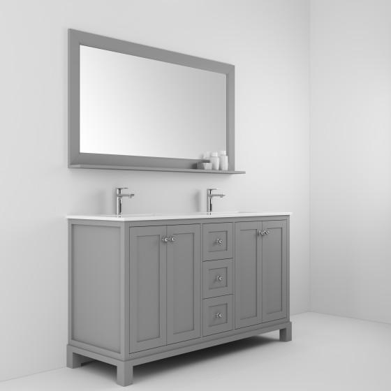 Amazonite 61 Inch Cashmere Grey Vanity Ak Trading Home