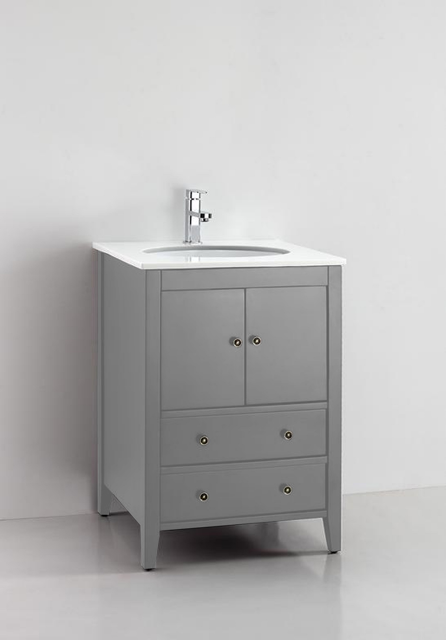 Cassia 25 Inch Cashmere Grey Vanity Ak Trading Home Options
