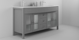 Diamond 63 Inch Cashmere Grey Vanity