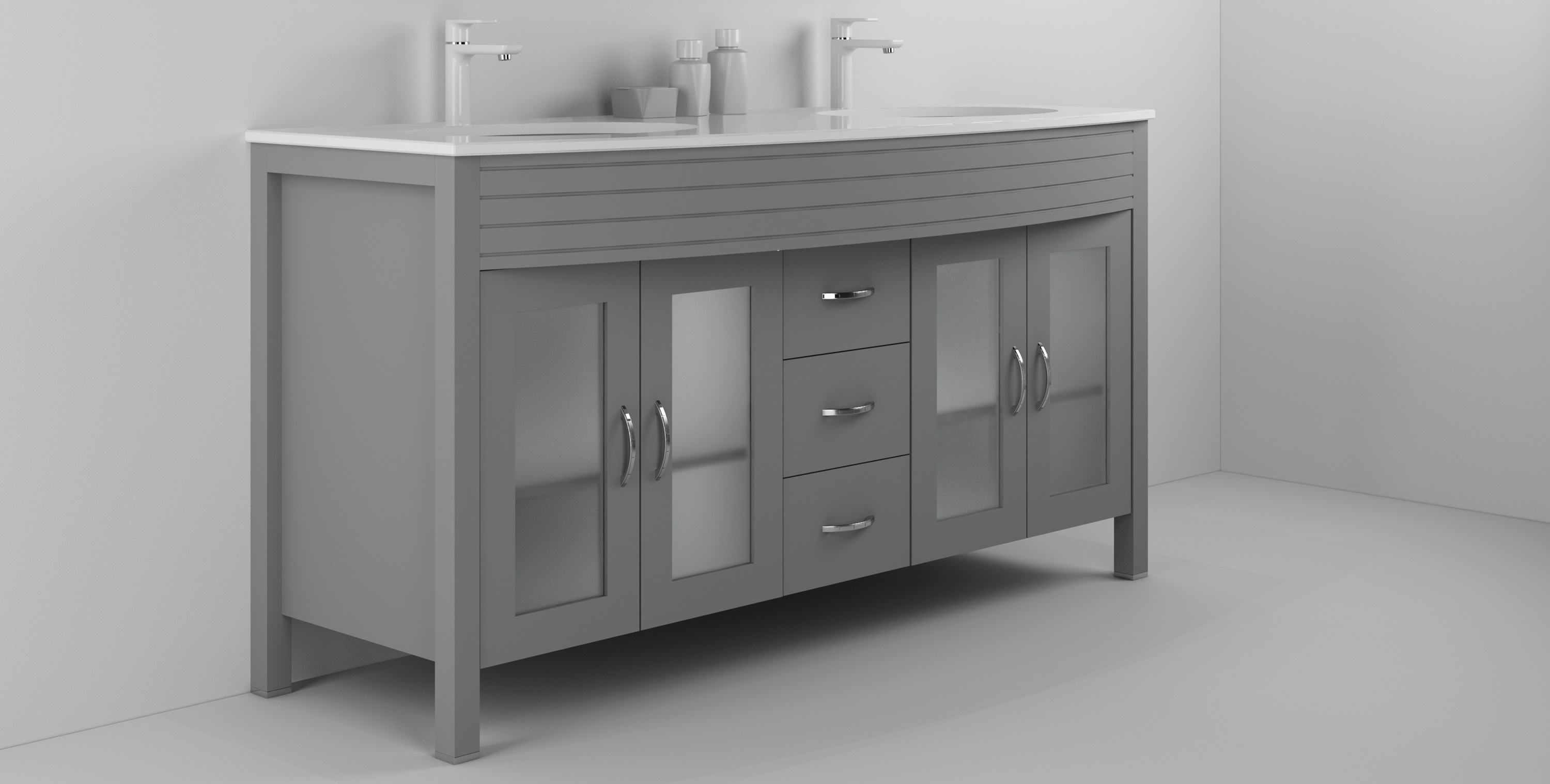Diamond 63 Inch Cashmere Grey Vanity Ak Trading Home Options