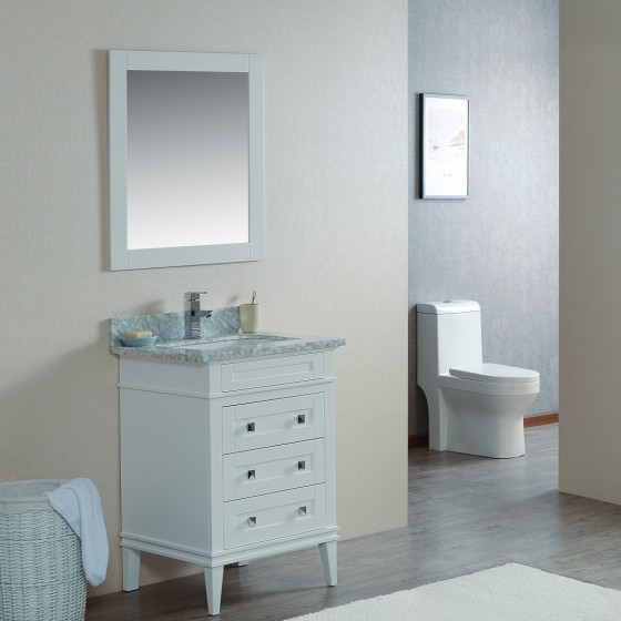 Cetus 24 Inch White Vanity 1