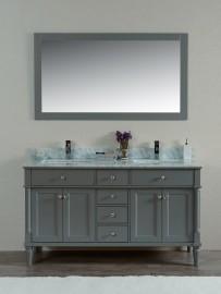 Norma 60 Inch Grey Vanity