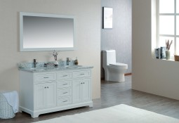 Scorpius 60 Inch White Double Sink Vanity