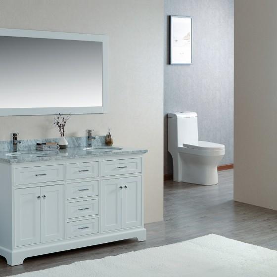 Scorpius 60 Inch White Double Sink Vanity