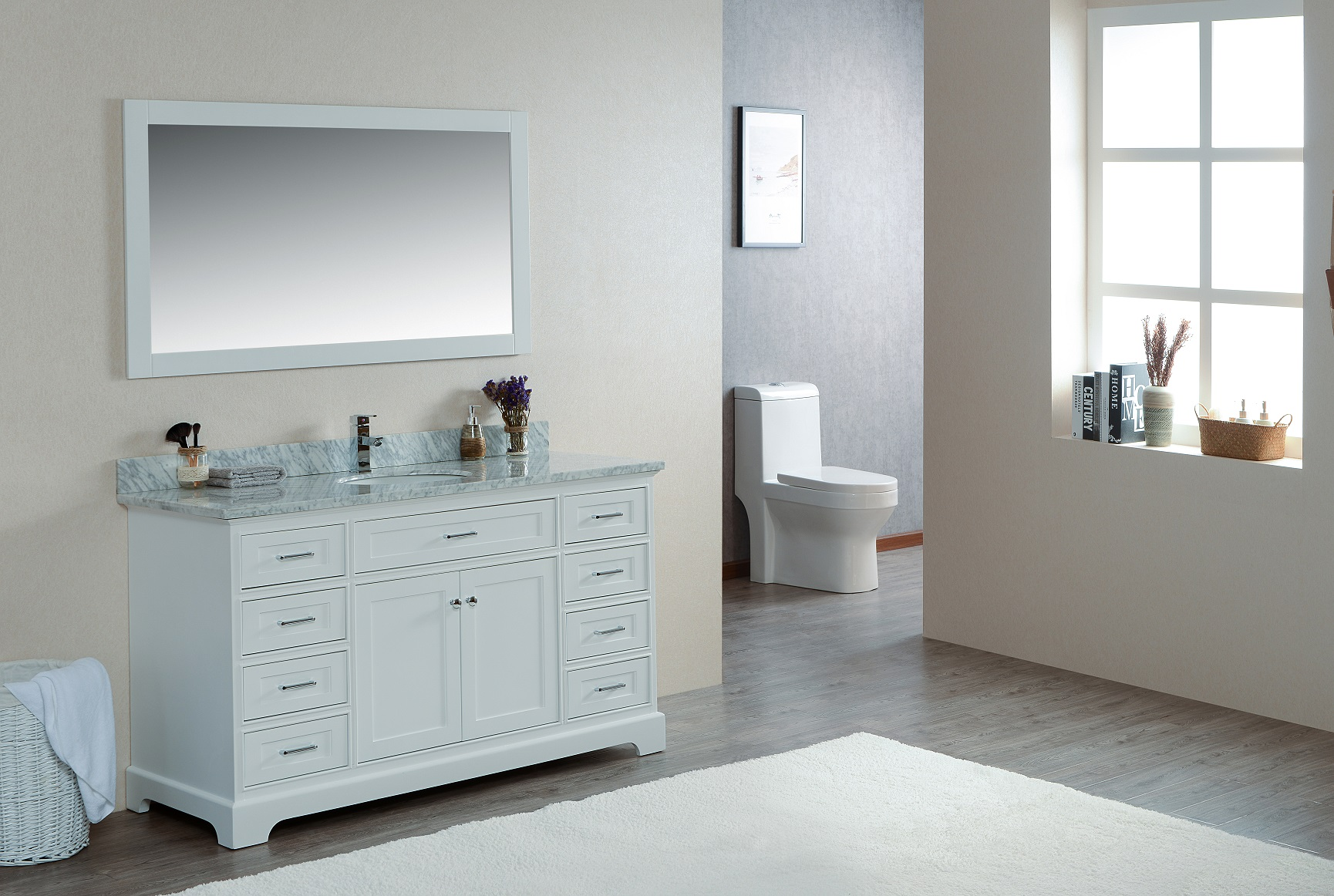 Scorpius 60 Inch White Vanity Ak Trading Home Options