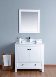 Ursa 36 Inch White Vanity 1