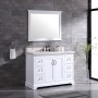 Pearl Bush 48 Inch White Marble Vanity 1