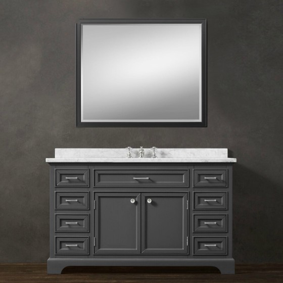 Snowberry 55 Inch Grey Vanity 1