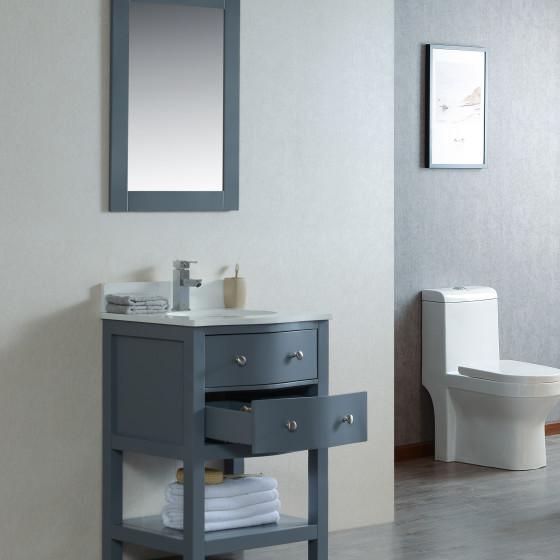 Ariel 24 Inch Grey Vanity