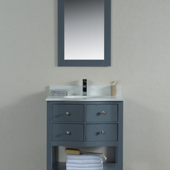 Ariel 30 Inch Grey Vanity