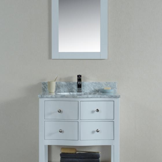Ariel 30 Inch White Vanity