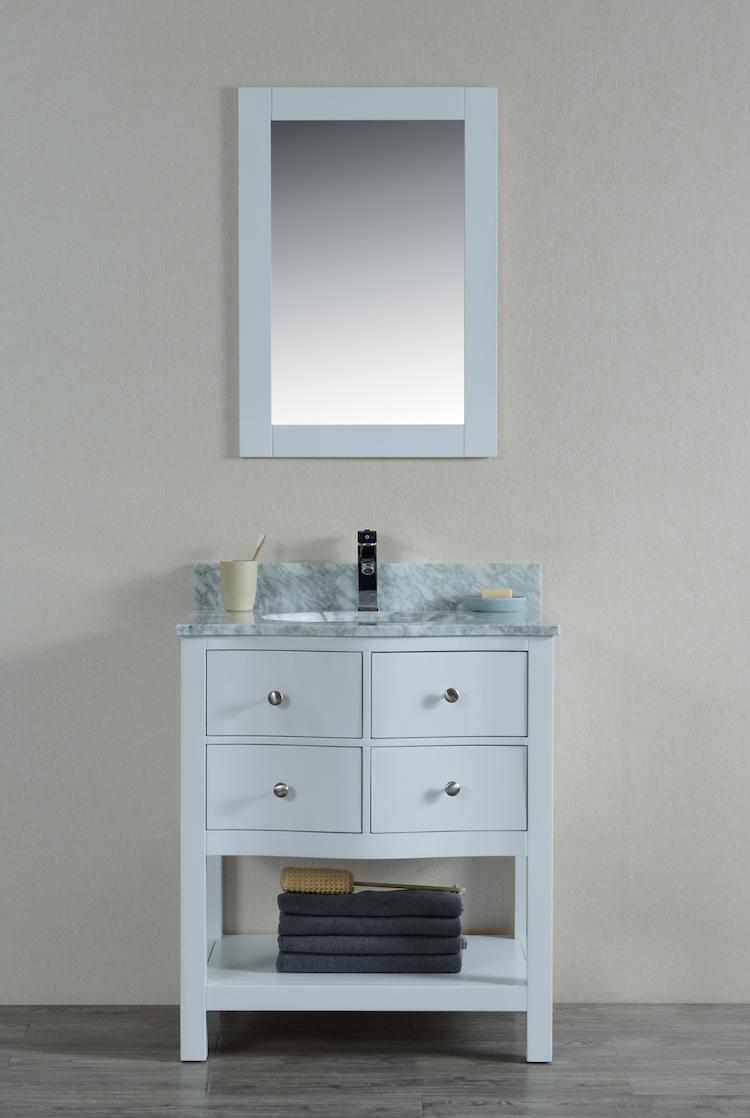 Titan 30 Inch White Vanity